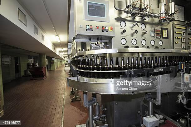 Beer bottling machine in brewery