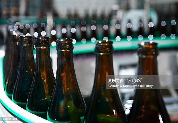 Beer factory, bottle chain production