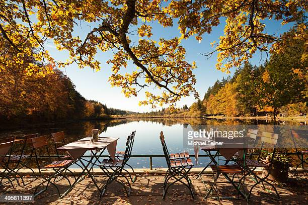 Beer garden at Lake Deining - Bavaria