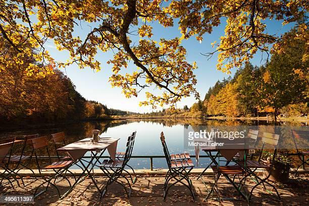 Beer garden at Lake Deining - Bavaria