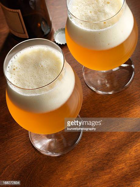 Beer in Glass Goblets