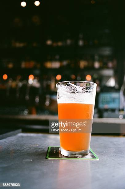 Beer In Glass On Coaster