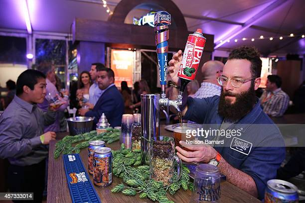 Beer is served at the Samuel Adams station at Ronzoni's La Sagra Slices hosted by Bongiovi Brand pasta sauces Adam Richman presented by Time Out New...