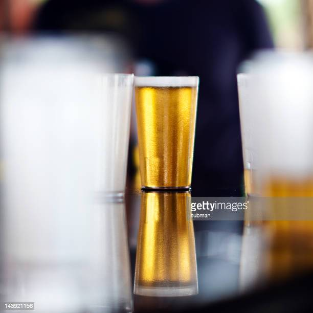 Beer on a counter