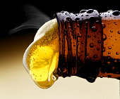 Beer Pouring from Beer Bottle