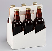beer six pack with clipping path and a copu space