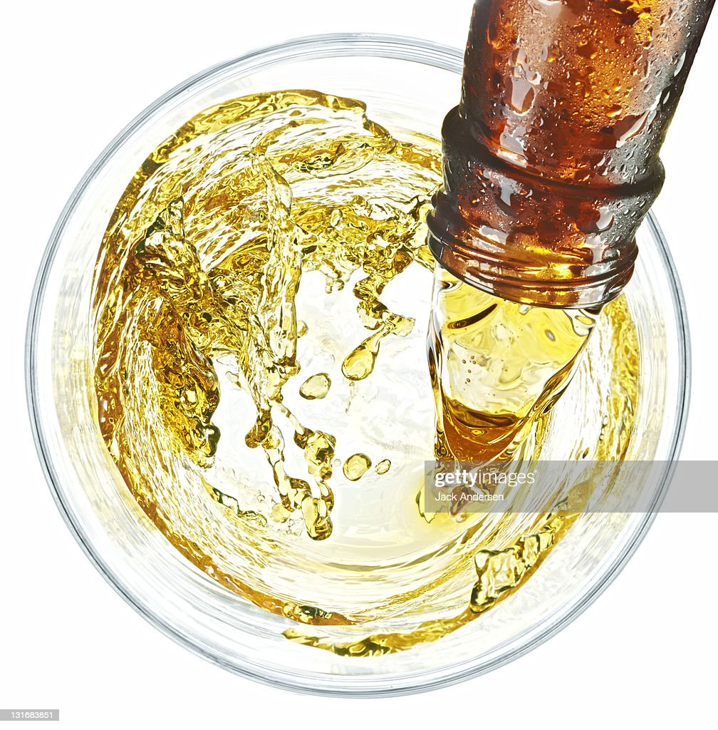 Beer Swirl Overhead : Stock Photo