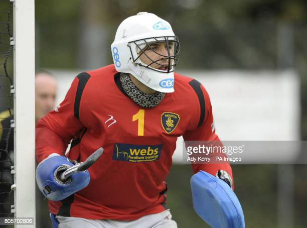 Beeston's George Pinner during their EHL Premier League game at Surbiton HC Surrey 17th October 2009