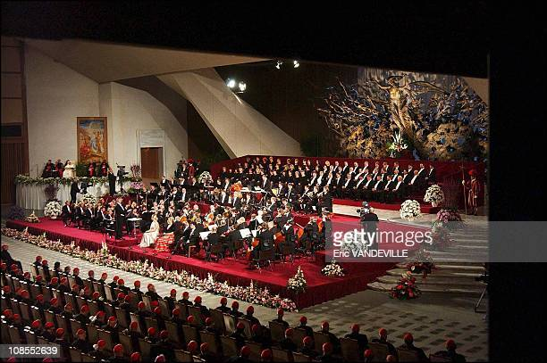 Beethoven's ninth symphony performed by the Chorus and Orchestra of Leipzig in presence of all the cardinals in Rome Italy on October 17th 2003