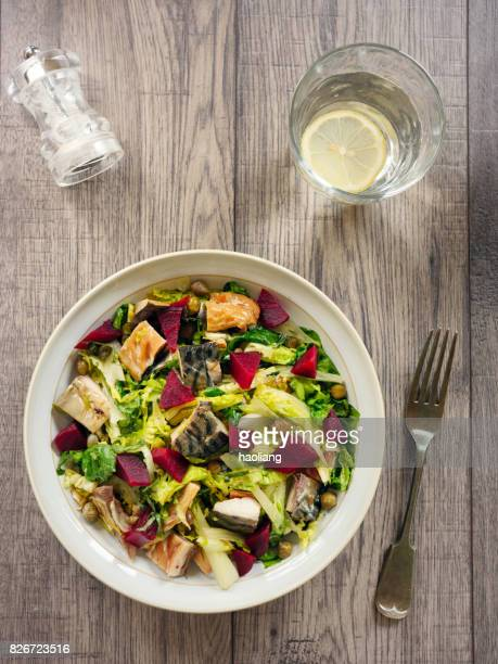 beetroot and smoke mackerel salad