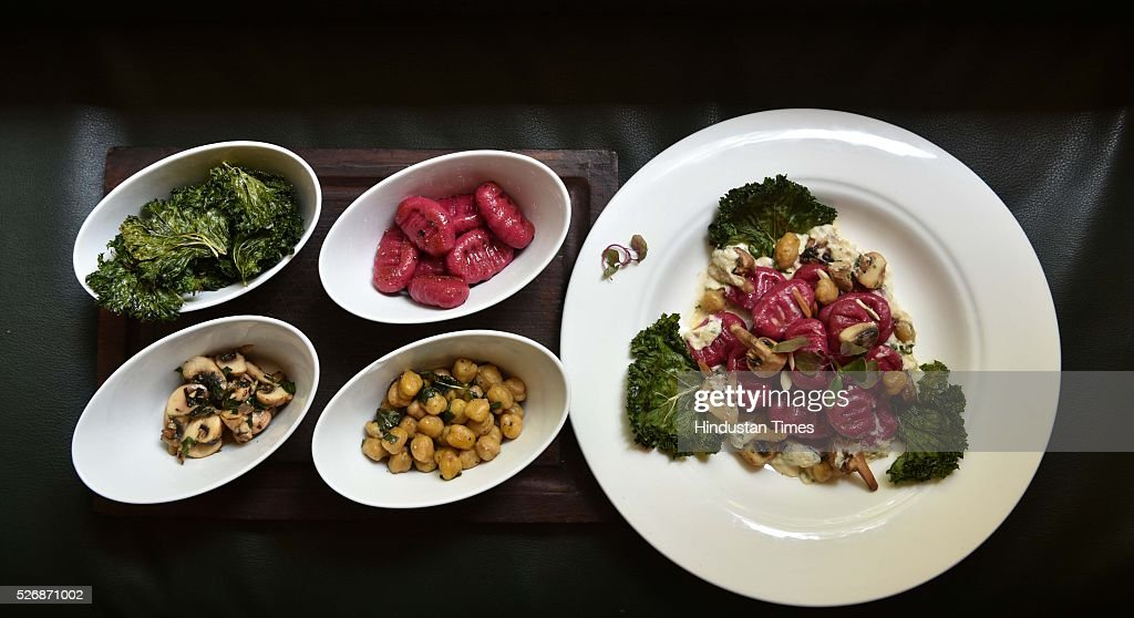Beetroot Gnocchi dish by Subhash Shirke, Executive Head Chef, Woodside Inn, Colaba, during an exclusive interview with ht48hours-Hindustan Times, on April 21, 2016 in Mumbai, India.
