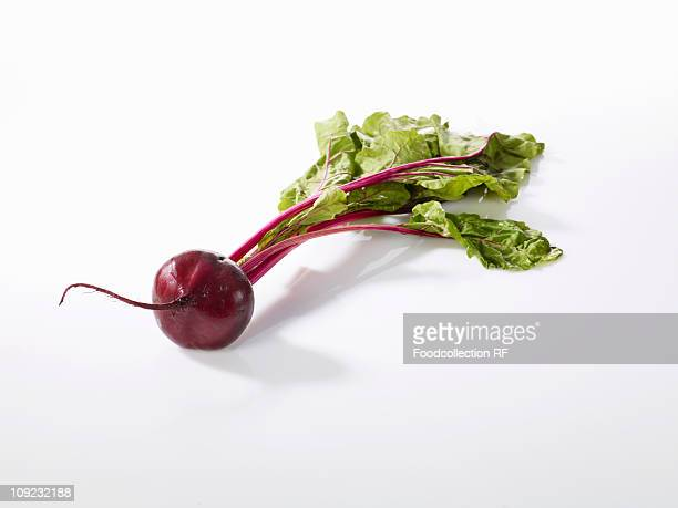 Beetroot on white background, close-up