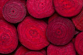 Slices of  fresh organic beetroot for background