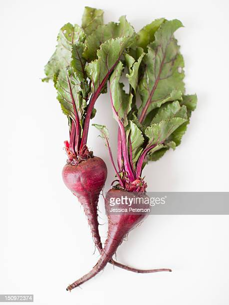 Beetroots on white background, studio shot