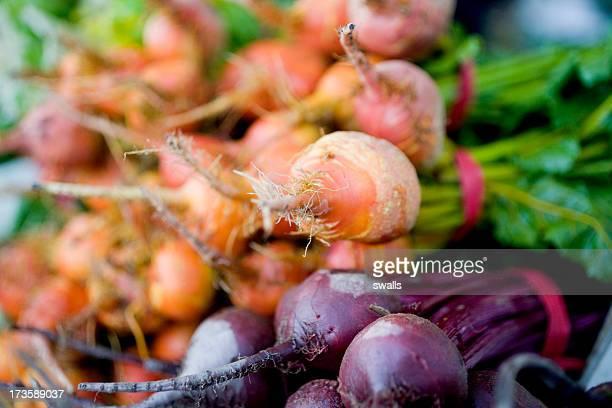 Barbabietole al mercato degli allevatori