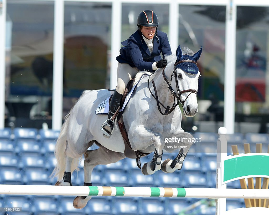 <a gi-track='captionPersonalityLinkClicked' href=/galleries/search?phrase=Beezie+Madden&family=editorial&specificpeople=628976 ng-click='$event.stopPropagation()'>Beezie Madden</a> participatesin FTI sulting Winter Equestrian Festival at Palm Beach International Equestrian Center on February 8, 2013 in Wellington, Florida.