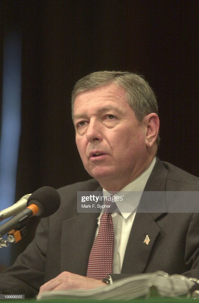 Before a full committee meeting on Tuesday, Attorney General John Ashcroft awaits questioning before giving the committee his '5 Steps to Success' against future terrorist attacks on American soil.