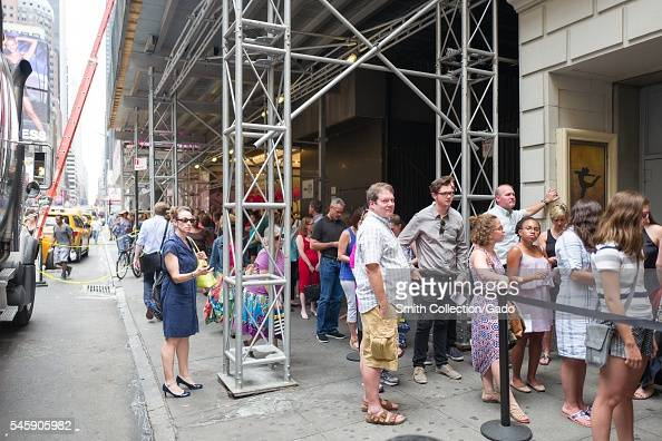 Before a performance of the Broadway musical Hamilton two days prior to creator Lin Manuel Miranda's departure from the show the line to enter the...