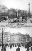 Before and after AntiEnglish Irish uprising Dublin May 1916 The Hotel Metropole and the Post Office before and after being blown up by the rebels The...