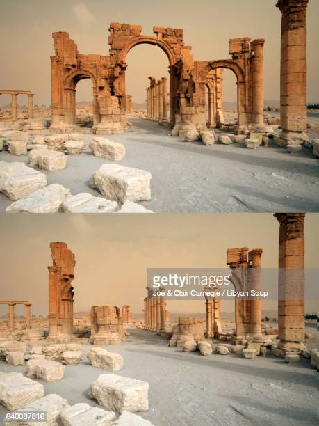 Before and after. Documenting the destruction of the Arch of Triumph in Palmyra, Syria