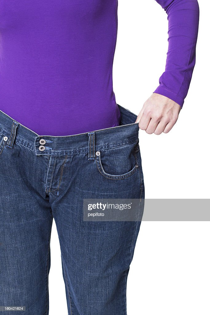 before and after losing weight : Stock Photo