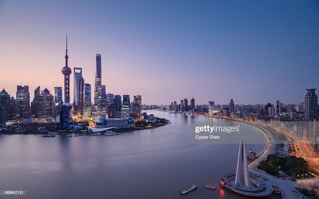 Before sunrise, Shanghai.