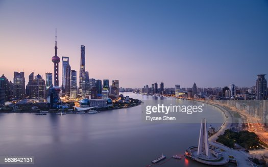 Before sunrise, Shanghai.
