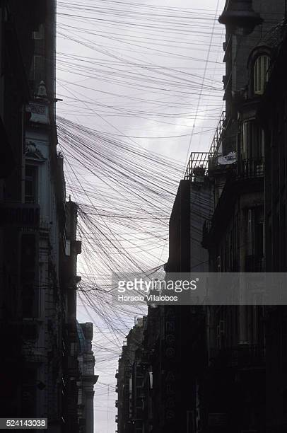 Before the state owned telephone company Entel was put into private hands the skies of Buenos Aires were crisscrossed bt thousands of phone wires...