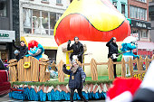 Before You Exit band members attend the 88th Annual Macys Thanksgiving Day Parade at on November 27 2014 in New York New York