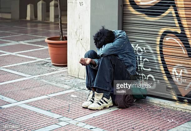 Bettler in Athen