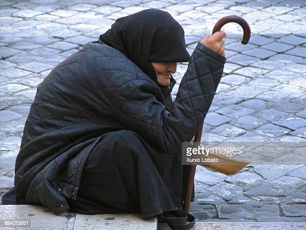 Beggar in San Pedro Square Roma