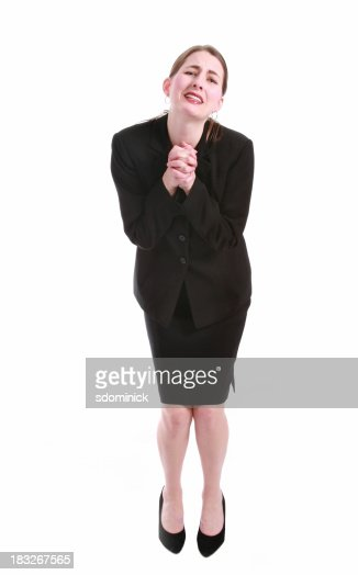 Begging Business Woman