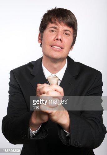 Begging Businessman with hands Praying (XXXL)