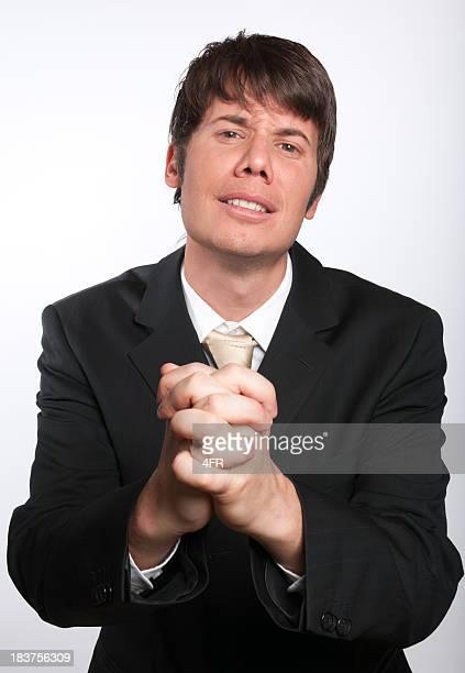 Implorare Uomo d'affari con le mani pregare (XXXL