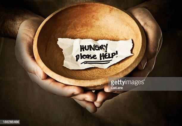 Implorando por comida ou dinheiro