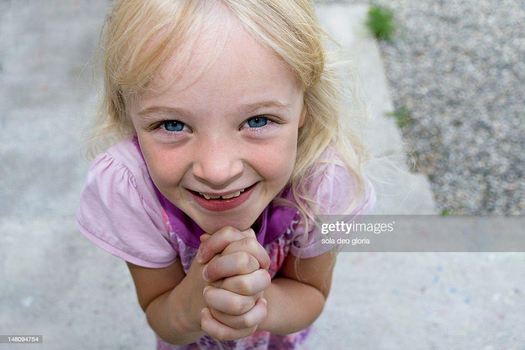 Begging girl : Stock Photo