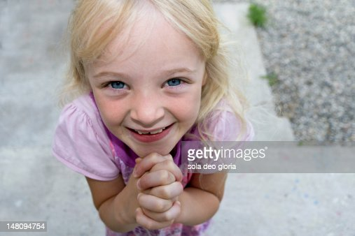 Begging girl : Stock Photo