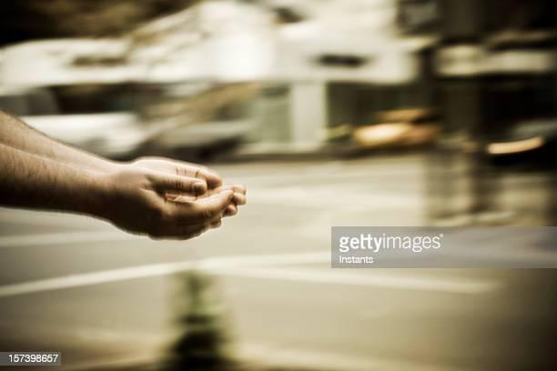 Begging hands