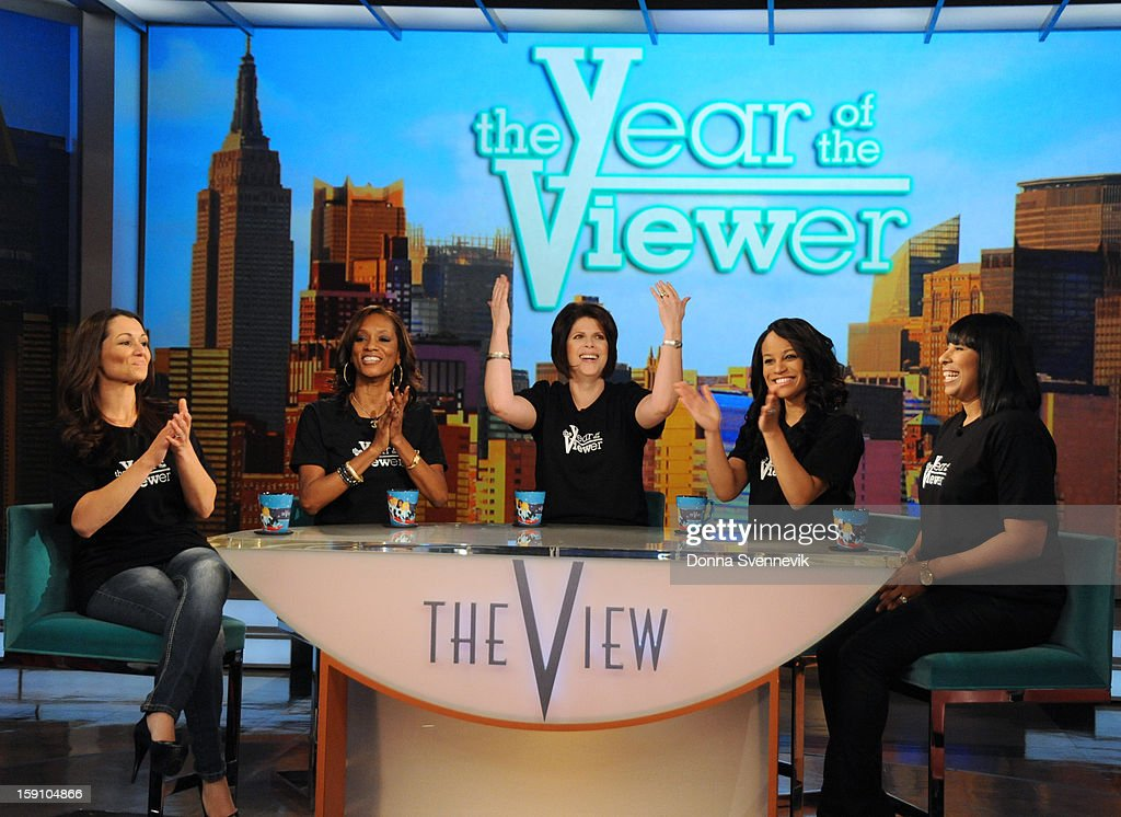 "THE VIEW - Beginning MONDAY, JANUARY 7, ABC's Emmy Award®-winning talk show ""The View"" (11:00a.m. - 12:00 noon, ET) celebrates Y-O-U, the viewer. ""The Year of the Viewer"" dedicates 2013 to viewers from coast to coast and around the globe with exciting opportunities to participate in the show, including makeovers from ""The View Crew,"" the chance to ask guests questions submitted to the official Twitter of ""The View"" (@theviewtv #asktheview), exclusive giveaways and ""Viewer Hot Topics."" 'The View' airs Monday-Friday (11:00 am-12:00 pm, ET) on the ABC Television Network. ALLEN"
