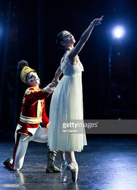 Begona Cao and Vadim Muntagirov of the English National Ballet perform The Nutcracker at the Coliseum on December 14 2011 in London England