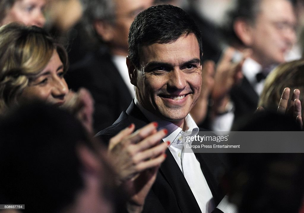 Begona Fernandez and Pedro Sanchez attend Goya Cinema Awards 2016 at Madrid Marriott Aud