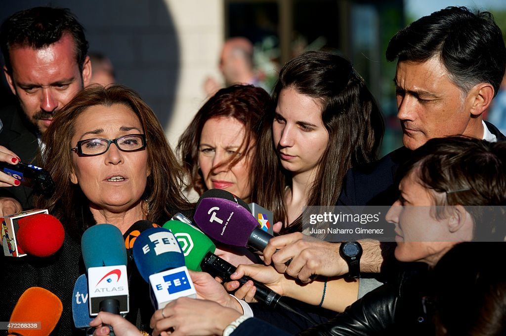 Begona Fernandez attends the funeral chapel for the journalist Jesus Hermida at La Paz Morgue on May 05, 2015 in Madrid, Spain.