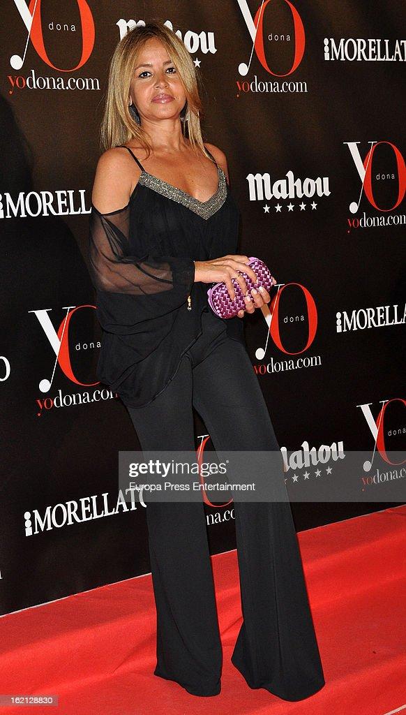 Begona Garcia Vaquero attends 'Yo Dona' magazine mask party on February 18, 2013 in Madrid, Spain.