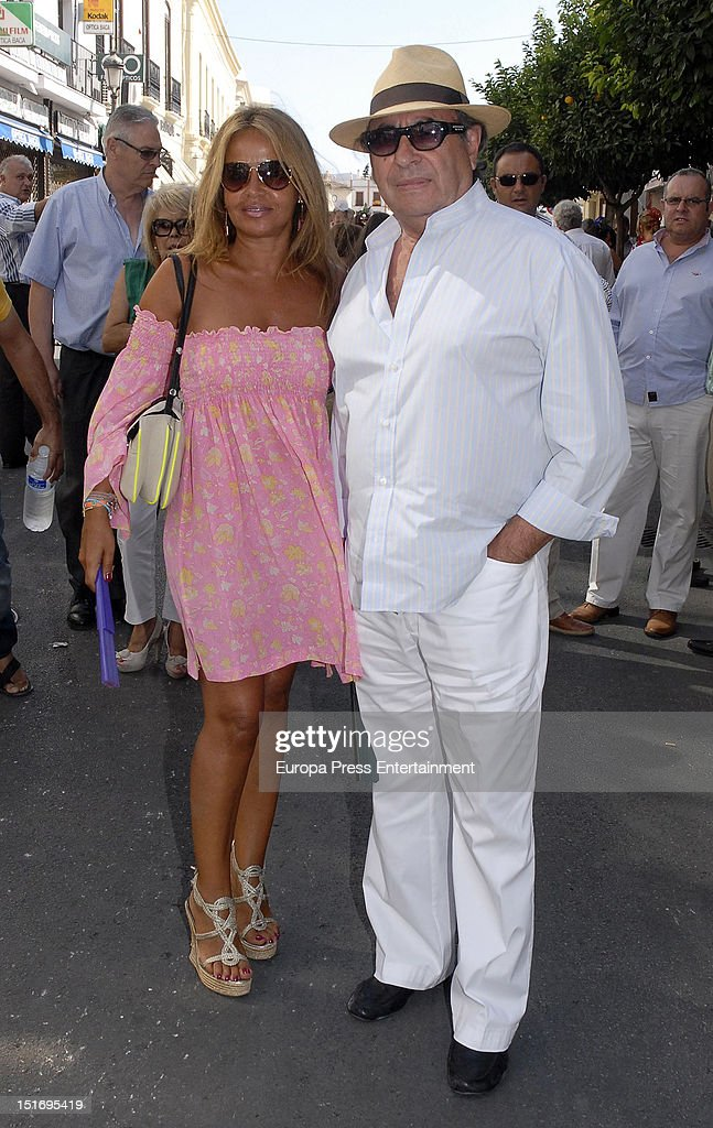 Begona Trapote and Pedro Trapote attend the 'Goyesca' Bullfights on September 8, 2012 in Ronda, Spain. The bullfight events, linked to The Feria Goyesca (Feria de Pedro Romero), stem from the inter-relationship of three main personae which spanned over three centuries, all of whom have strong connections to Ronda. These are the famous 18th century bullfighter, Pedro Romero; the 18th century Spanish painter, Francisco de la Goya; and also the 20th century bullfighter, Antonio Ordonez, to whom the vision of the Ronda's modern Feria Goyesca can be attributed.