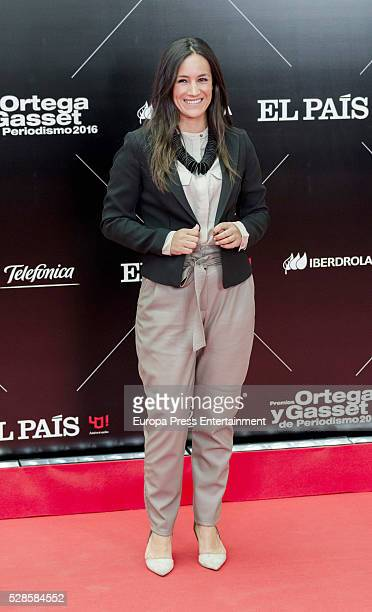 Begona Villacis attends the dinner for the 40th anniversay of 'El Pais' newspaper and the ceremony of 'Ortega y Gasset' Journalism Awards at Palacio...