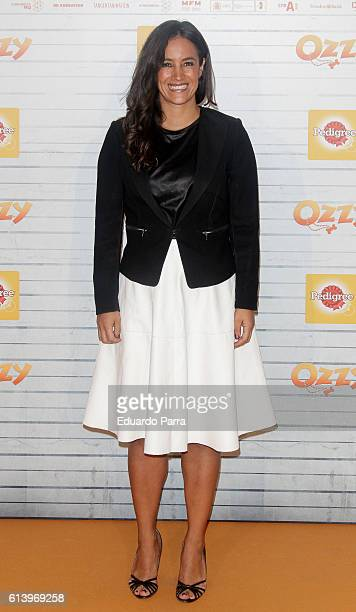 Begona Villacis attends the 'Ozzy' premiere at Callao cinema on October 11 2016 in Madrid Spain