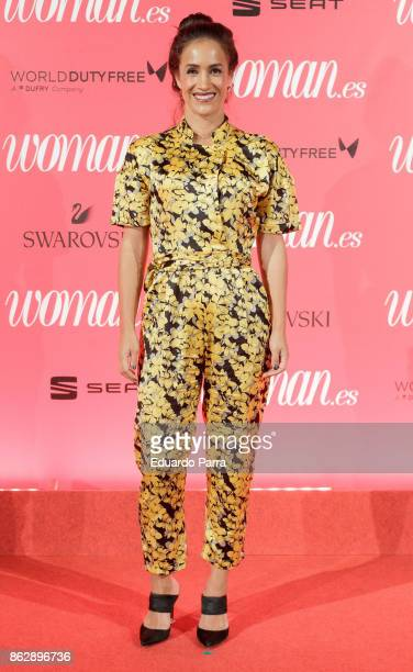 Begona Villacis attends the 'Woman 25th anniversary' photocall at Madrid Casino on October 18 2017 in Madrid Spain