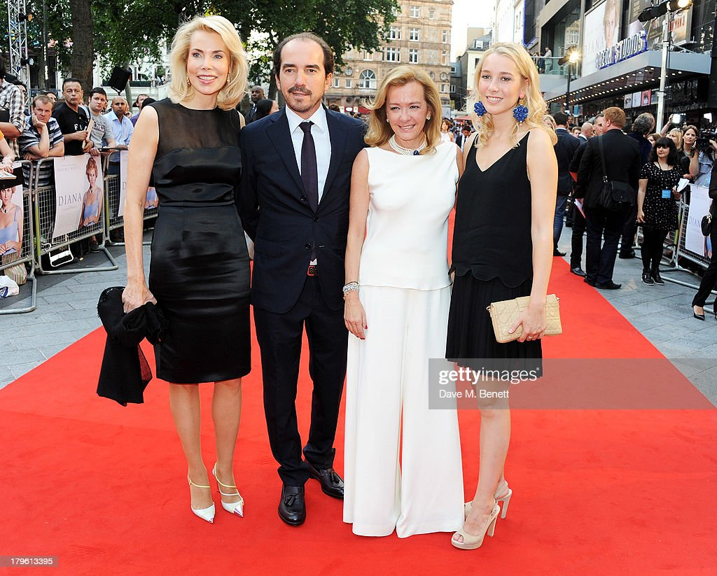 Begum Aga Khan, Alexis Veller, Caroline Scheufele and guest attend the World Premiere of 'Diana' at Odeon Leicester Square on September 5, 2013 in London, England.