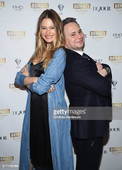 Behati Prinsloo and Jason Binn attend Behati Juicy Couture Black Label Launch at PHD Rooftop Lounge at Dream Downtown on March 23 2016 in New York...