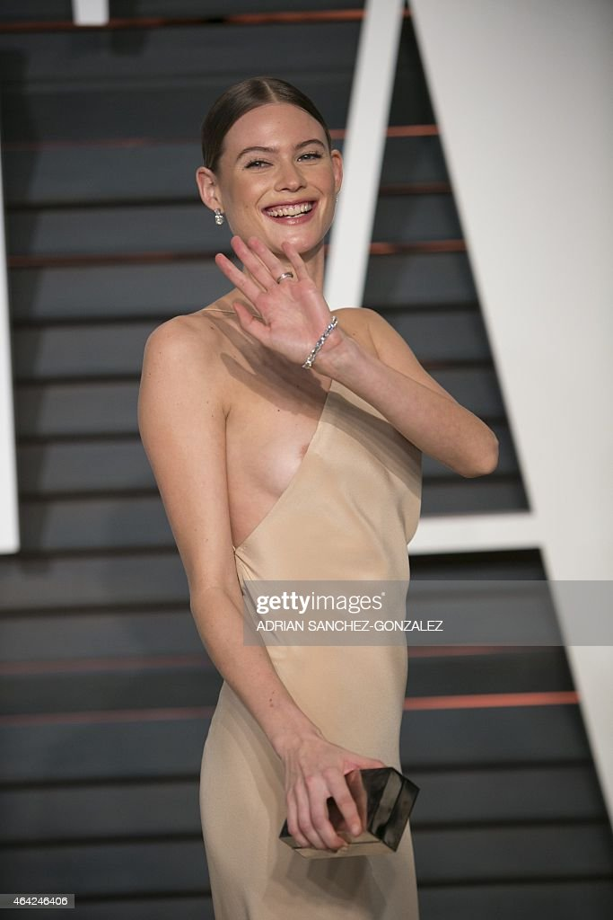 Behati Prinsloo arrives to the 2015 Vanity Fair Oscar Party February 22, 2015 in Beverly Hills, California. GONZALEZ